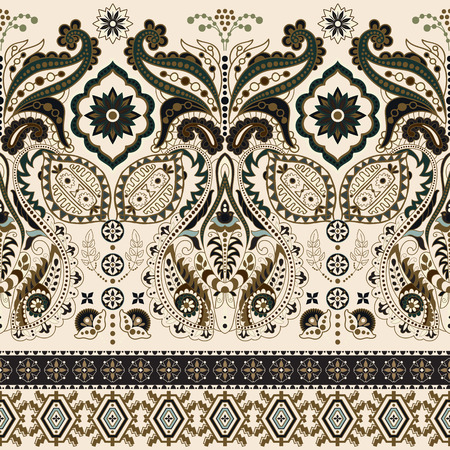 vintage floral pattern: Seamless Paisley background, floral pattern Stock Photo