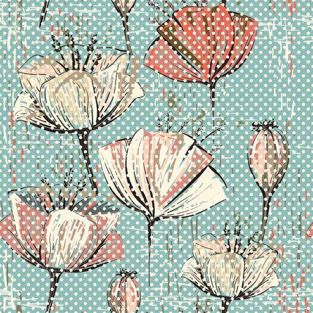 Vector De Tulipanes De Colores Patrón. Sin Costura Puede Utilizar ...