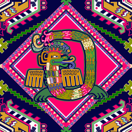 american stories: Aztec pattern. Geometric