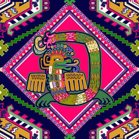 Aztec pattern. Geometric