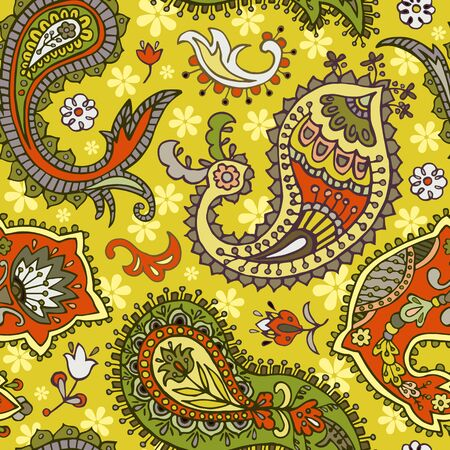 indian teenager: Paisley seamless pattern. Abstract ethnic background Stock Photo