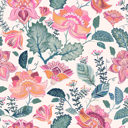 provence: Floral seamless patter, provence style Illustration