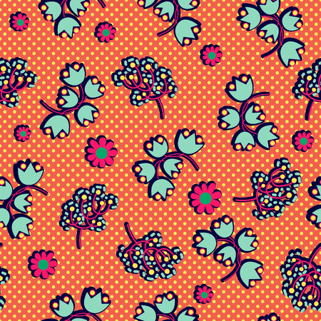 flower ornament: Floral seamless pattern. Paisley backdrop with decorative flowers