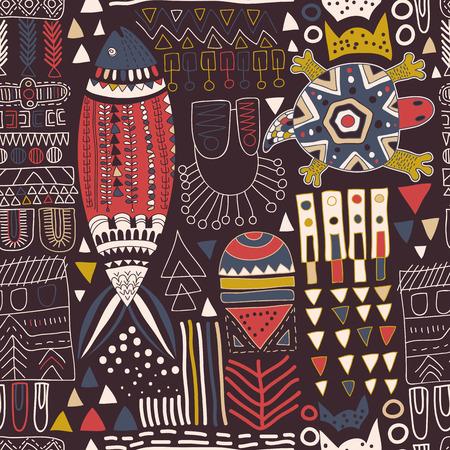 Abstract naadloos patroon. Trendy geometrische elementen. Memphis stijl Vector Illustratie