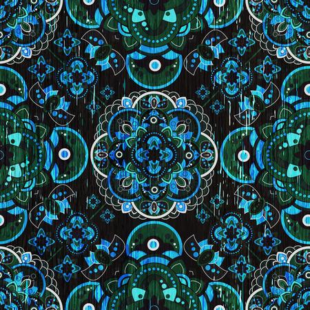 pattern: Colorful Paisley seamless pattern. Indian ornamental wallpaper Illustration