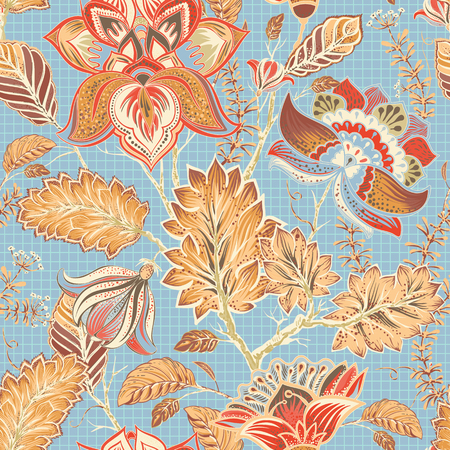 Spring floral seamless pattern. Provence style