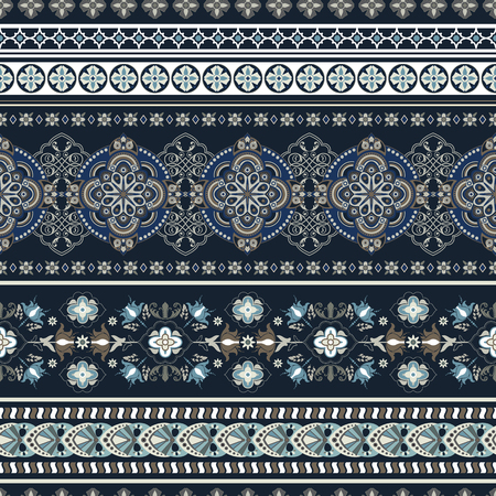 Geometric ornament for weaving, knitting, embroidery, wallpaper, textile Ethnic pattern Border ornament Çizim