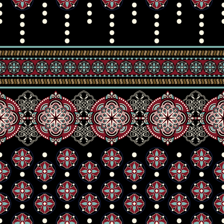 Geometric ornament for weaving, knitting, embroidery, wallpaper, textile Ethnic pattern Border ornament 向量圖像