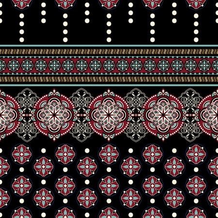 Geometric ornament for weaving, knitting, embroidery, wallpaper, textile Ethnic pattern Border ornament Illustration