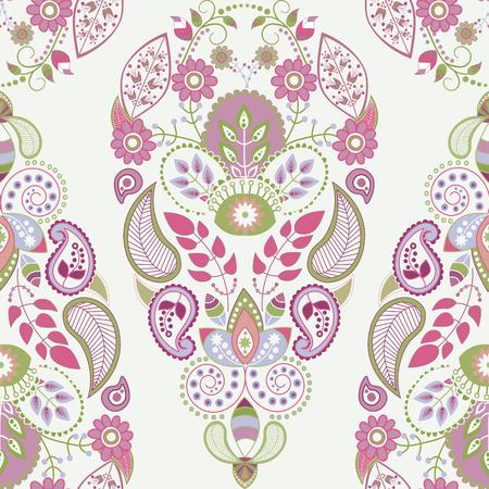 Light floral seamless pattern, ornamental wallpaper for cards, textile, web, wallpaper Illustration