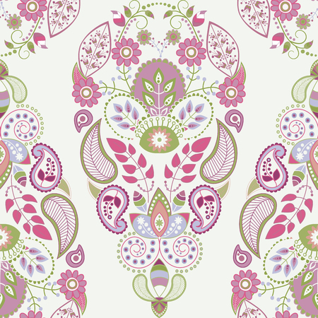 Light floral seamless pattern, ornamental wallpaper for cards, textile, web, wallpaper Ilustracja
