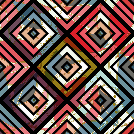Colorful abstract seamless pattern. Geometric wallpaper