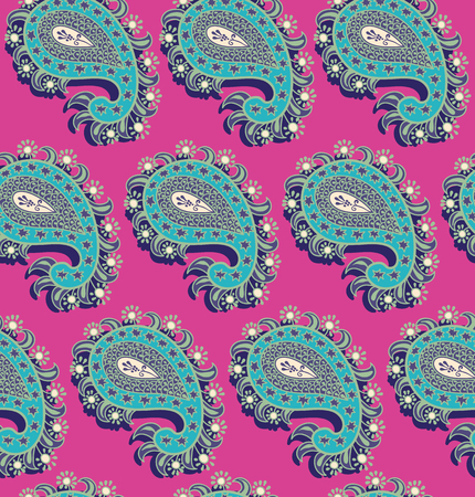 Colorful Paisley pattern for textile, cover, wrapping paper, web. Ethnic vector wallpaper with decorative elements. Vector illustration, batik indonesia