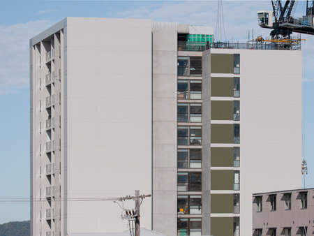 new high rise apartments construction.