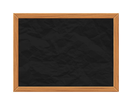 Black chalkboard over white