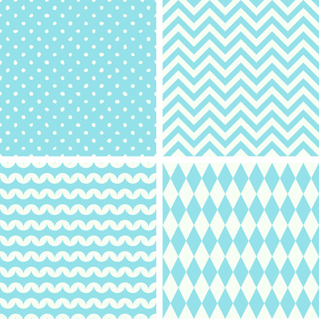 seamless tile: Set of four seamless backgrounds, vector illustration