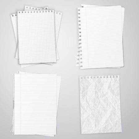 Zestaw białych ksiąg, ilustracji wektorowych