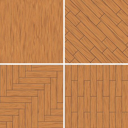 wood textures: Set of wood textures, seamless backgrounds, vector illustration Illustration