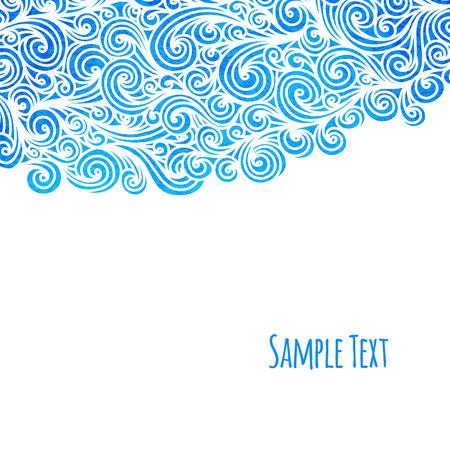 vague: Arri�re-plan de vagues, illustration vectorielle