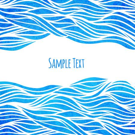 Wave Hintergrund Vektor-Illustration