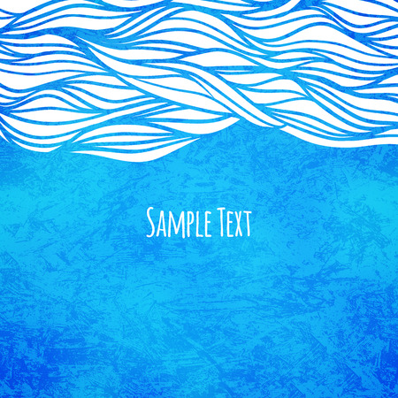 Wave background, vector illustration