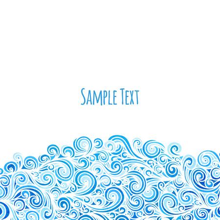 vague: Arrière-plan de vagues, illustration vectorielle