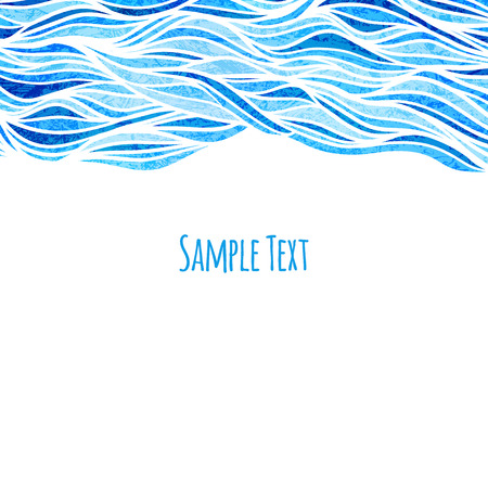 blue sea: Wave background, vector illustration
