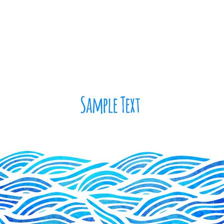 oceano: Ola de fondo, ilustración vectorial