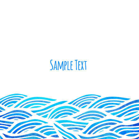 blue wave: Wave background, vector illustration