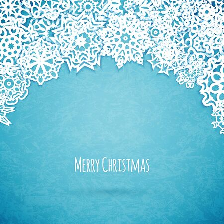 Merry christmas card with snowflakes, vector illustration 版權商用圖片 - 38972672