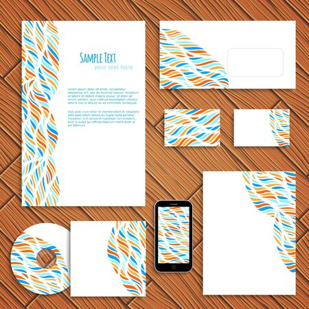 business style: Bright business style template, vector illustration