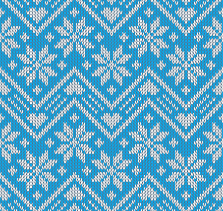 Knitted seamless pattern, vector illustration Vector