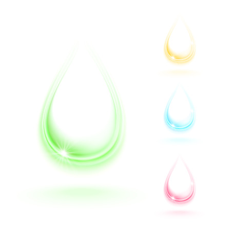 drops of water: Crystal water drops, vector illustration Illustration