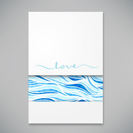 Beautiful card for invitation or announcement illustration