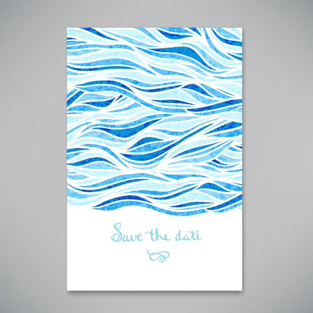 with ocean: Beautiful card for invitation or announcement illustration