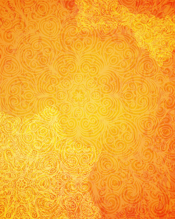 Indian tribal orange pattern, vector illustration 矢量图像