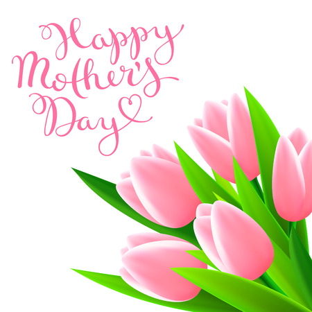 Happy Mothers day, beautiful card, vector illustration