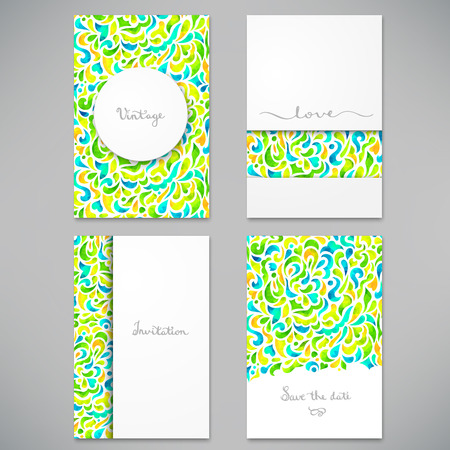 Beautiful card for invitation or announcement Stock Illustratie