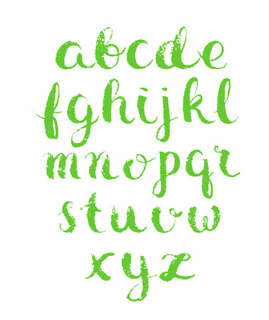 english letters: Modern vector english alphabet. Hand drawn letters.