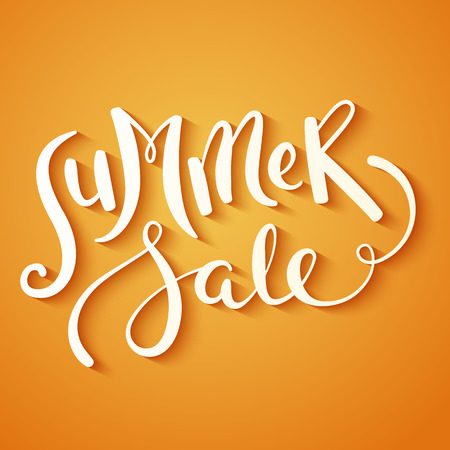 typographical: Summer sale typographical poster, vector illustration, eps10