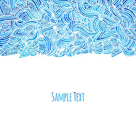Beautiful blue doodle background, vector illustration, eps10