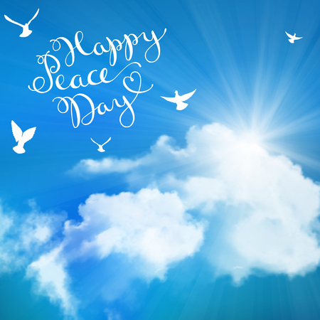 peace day: Card for International Peace Day, 21 september, vector illustration