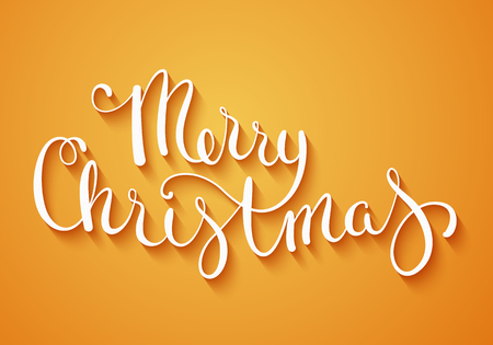 text background: Hand made calligraphy Merry Christmas