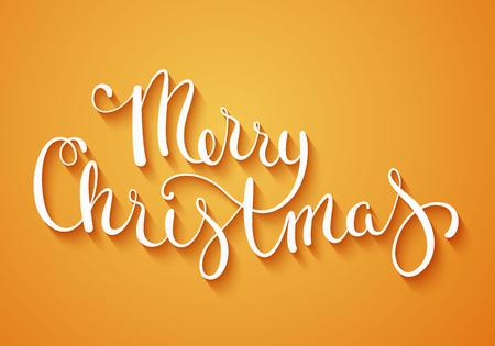 fond de texte: Main calligraphie faite Joyeux Noël Illustration