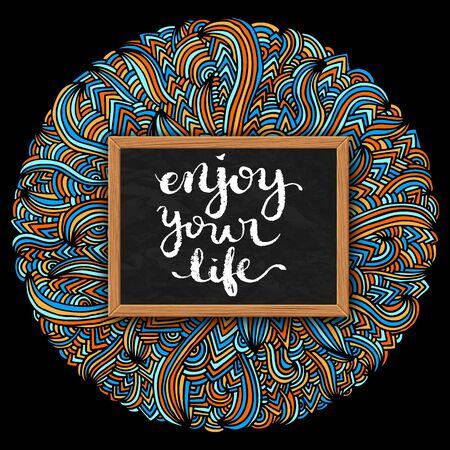 enjoy life: Enjoy your life poster over bright background, vector illustration Illustration