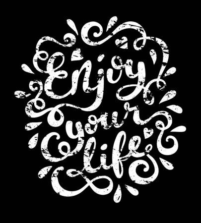 enjoy life: Enjoy your life quote typography, vector illustration