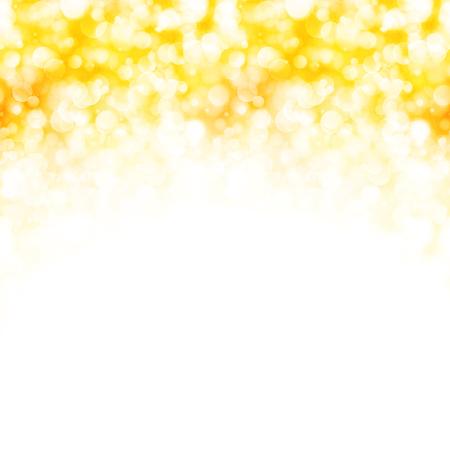 Fond doré avec des lumières étincelantes, illustration vectorielle Vecteurs
