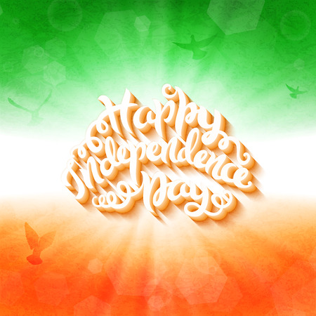 ashok: India independence day poster, 15th of august, vector illustration