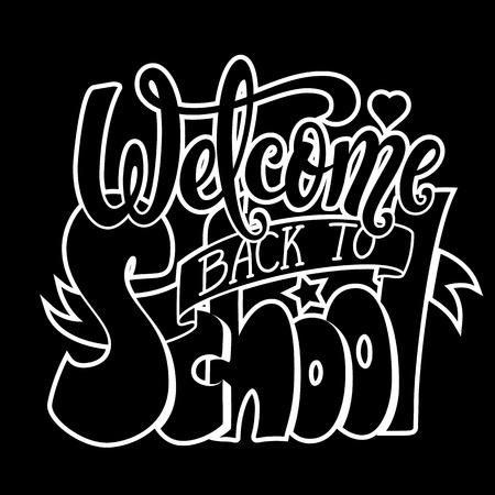 Willkommen zurück zur Schule Banner. Vektor-Illustration. Standard-Bild - 81184399