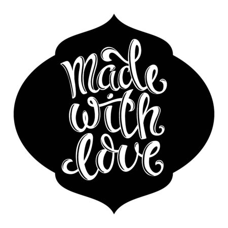Made with love. Vector illustration. Illustration